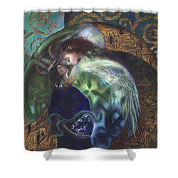 Shower Curtain featuring the painting The Birth Of The World by Ragen Mendenhall