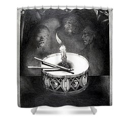 The Birthday Party Shower Curtain by Otto Rapp