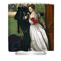 The Black Brunswicker Shower Curtain by Sir John Everett Millais