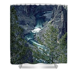 The Black Canyon Of The Gunnison Shower Curtain by RC DeWinter