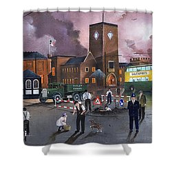 Dudley Trolley Bus Terminus 1950's Shower Curtain