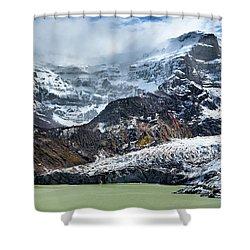 The Black Snowdrift Glacier Shower Curtain