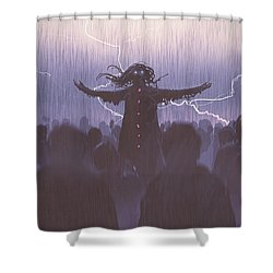 The Black Wizard Shower Curtain
