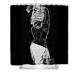 The Black Women's Struggle Shower Curtain