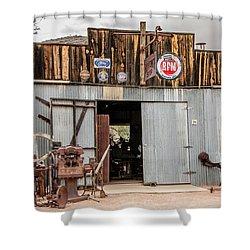 The Blacksmith Shop Shower Curtain