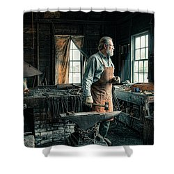 Shower Curtain featuring the photograph The Blacksmith - Smith by Gary Heller