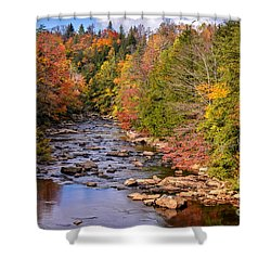 The Blackwater River In Autumn Color Shower Curtain