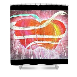 The Bleeding Heart Of The Illuminated Forbidden Fruit Shower Curtain