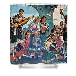 The Blessing Of Animals Olvera Street Shower Curtain