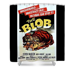 The Blob  Shower Curtain by Movie Poster Prints