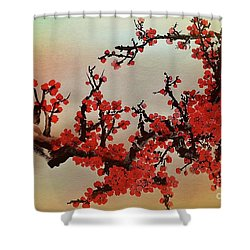 The Bloom Of Cherry Blossom Shower Curtain