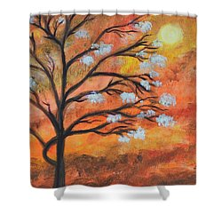 The Blossom Shower Curtain