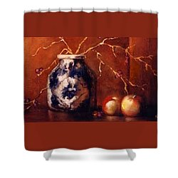 The Blue And White Vase Shower Curtain by Jordana Sands