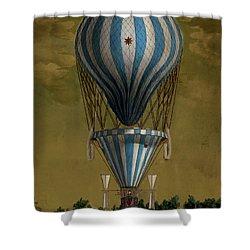 The Blue Balloon Shower Curtain