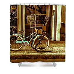 The Blue Bike Shower Curtain