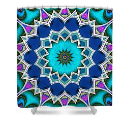 Shower Curtain featuring the digital art The Blue Collective 01a by Wendy J St Christopher