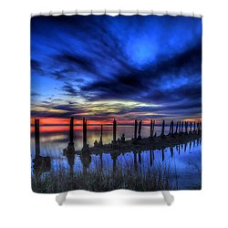 The Blue Hour Comes To St. Marks #1 Shower Curtain