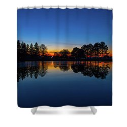 Shower Curtain featuring the photograph The Blue Hour.. by Nina Stavlund
