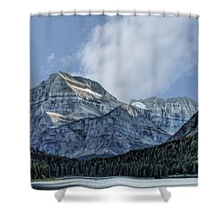 The Blue Mountains Of Glacier National Park Shower Curtain