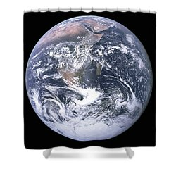 The Blue Planet - The Blue Marble  By Apollo 17 Shower Curtain