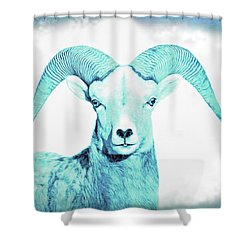 Shower Curtain featuring the photograph The Blue Ram by Jennie Marie Schell