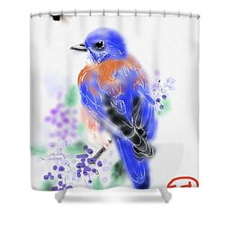 The Bluebird Sings  Shower Curtain
