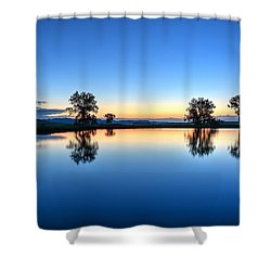 The Blues Shower Curtain by Fiskr Larsen