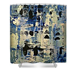 The Blues Abstract Shower Curtain