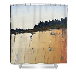 The Bluff Shower Curtain by Carolyn Doe