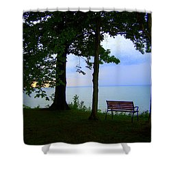 The Bluffs Bench Shower Curtain
