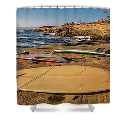 The Boards Shower Curtain by Peter Tellone