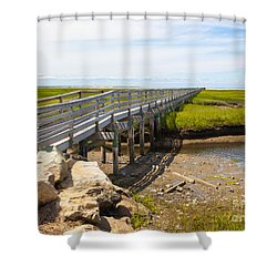 The Boardwalk At Gray's Beach Shower Curtain by Michelle Wiarda