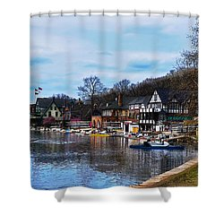 The Boat House Row Shower Curtain by Bill Cannon