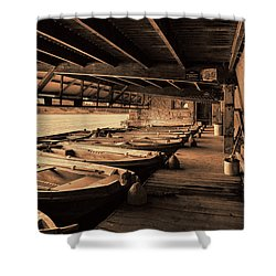 Shower Curtain featuring the photograph The Boat House  by Scott Carruthers