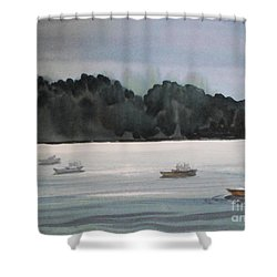 The Boat Ride Shower Curtain