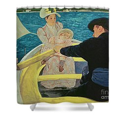 The Boating Party Shower Curtain by Mary Stevenson Cassatt