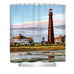 The Bolivar Lighthouse Shower Curtain