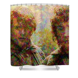 Shower Curtain featuring the photograph The Bonds Of Friendship by Mario Carini