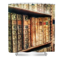 The Bookcase Shower Curtain by Isabella F Abbie Shores FRSA