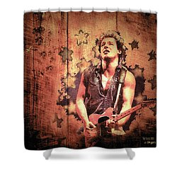 Shower Curtain featuring the photograph The Boss 1985 by Paula Ayers