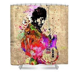 The Boss Grunge Shower Curtain