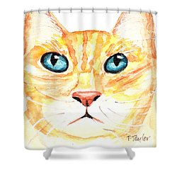 Shower Curtain featuring the painting The Boss by Terry Taylor