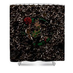 The Boston Celtics 1b Shower Curtain by Brian Reaves