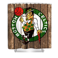 The Boston Celtics 2a Shower Curtain by Brian Reaves