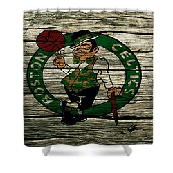 The Boston Celtics 2w Shower Curtain by Brian Reaves