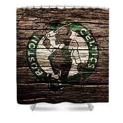 The Boston Celtics 6e Shower Curtain by Brian Reaves