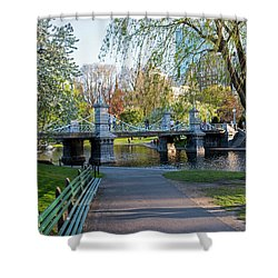 The Boston Public Garden In The Spring Boston Ma Shower Curtain