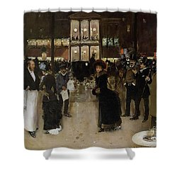 The Boulevard At Night Shower Curtain by Jean Beraud
