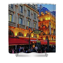 The Boulevard Saint Michel At Dusk In Paris, France Shower Curtain