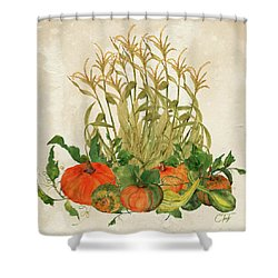 The Bountiful Harvest Shower Curtain